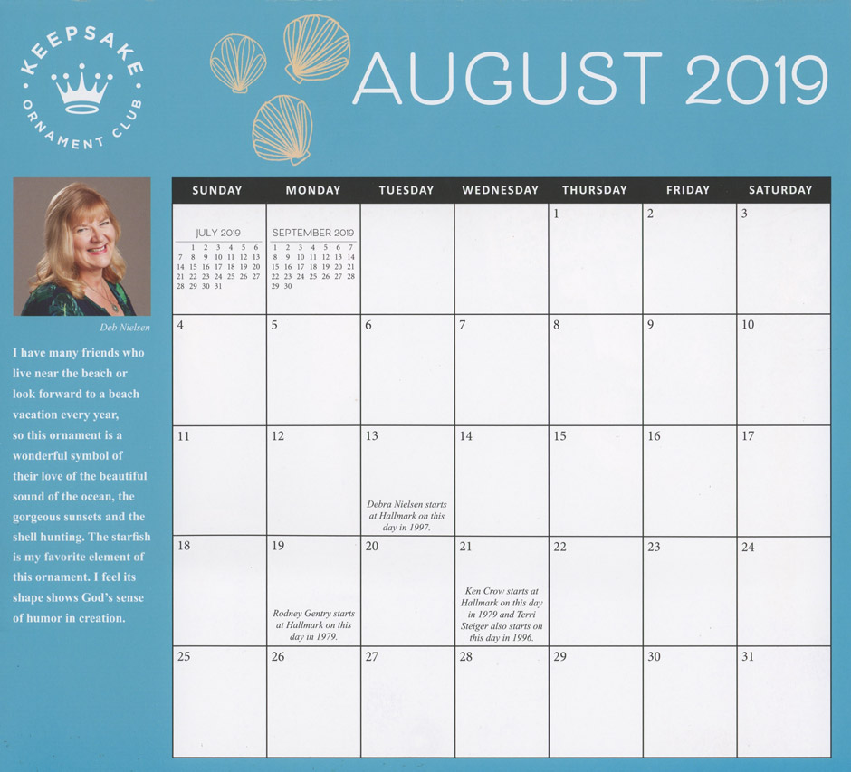 christmas every day 18-month calendar  july 2019